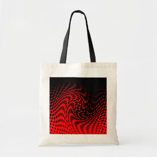 Black and Red Abstract Design Tote Bags