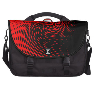 Black and Red Abstract Design Commuter Bags