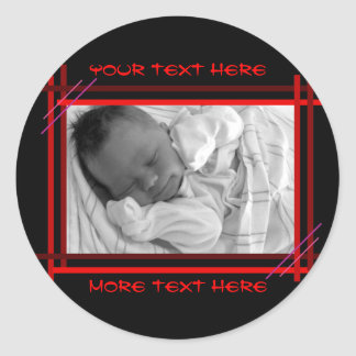 Black and Red Abstract Frame Stickers