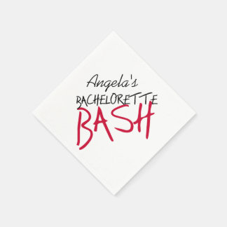 Black and Red Bachelorette Bash Paper Napkins