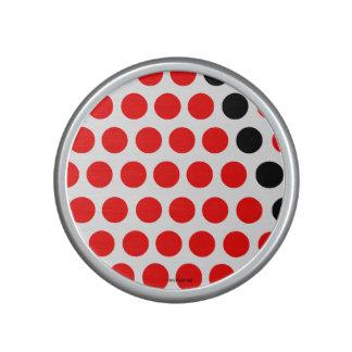 Black and red balls speaker