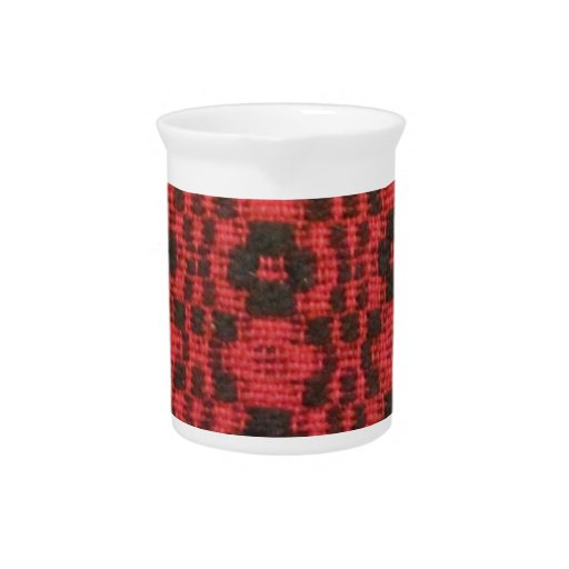 Black and Red Beverage Pitcher