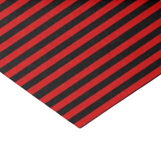 Black and Red Bold Stripes Pattern Tissue Paper