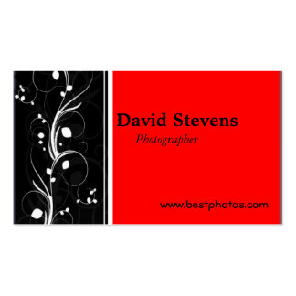 Black and Red Business cards