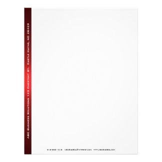 Black and Red Business Letterhead