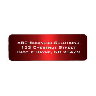 Black and Red Business Return Address Sticker Label