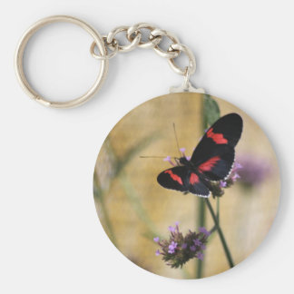 Black  and Red Butterfly Keychain