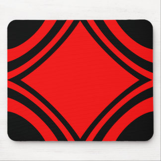 Black and Red by Tala Mouse Pad