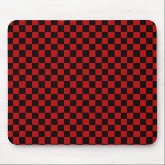 Black and Red Checked Mousepad