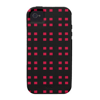 Black and Red Checker iPhone 4 Cases