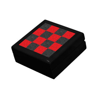 Black and Red Checkerboard Pattern Tile Gift Box