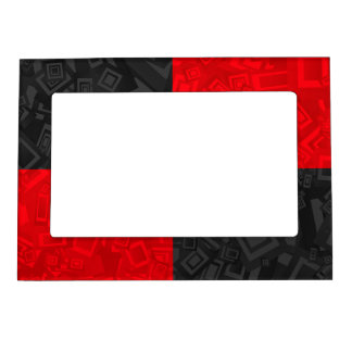 Black and Red Checkered 5x7 Magnetic Frame
