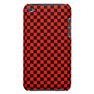 Black and Red Checkered Pattern iPod Touch Case