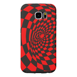 Black and Red Checkered Warp Samsung Galaxy S6 Cases