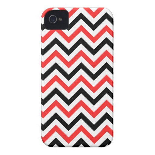 Black And Red Chevron iPhone 4 Cover