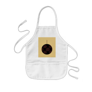 Black and Red Christmas Bauble on Gold Color Aprons