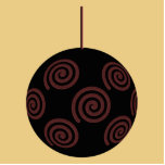 Black and Red Christmas Bauble on Gold Color Photo Cutout