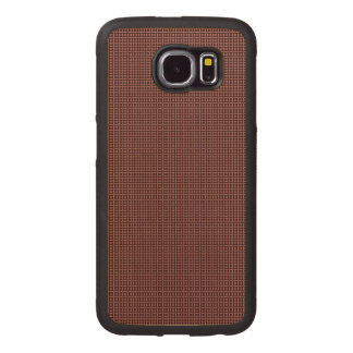 black and red circle wood phone case