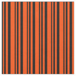 [ Thumbnail: Black and Red Colored Lined/Striped Pattern Fabric ]