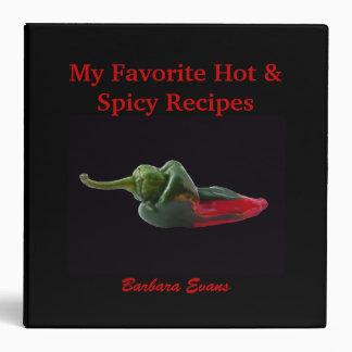 Black and Red Custom Recipe Binder