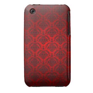 Black and red Damask Design Blackberry Curve case