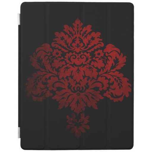 Black And Red Damask iPad Smart Cover