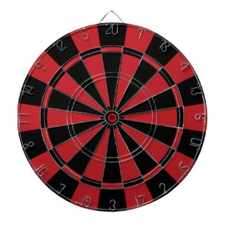 Black and Red Dart Board