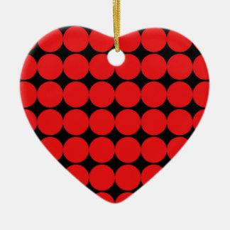 BLACK AND RED DIAMONDS CERAMIC ORNAMENT