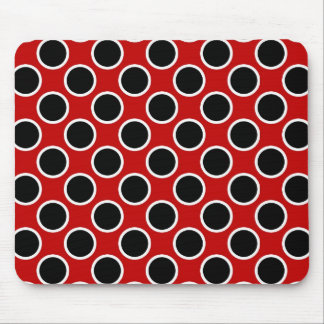 Black and Red Dots Mouse Pad