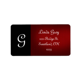 Black and Red Dramatic Address Label