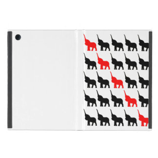 Black and Red Elephant  pattern case