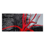 Black and Red Feather Wedding Invitations