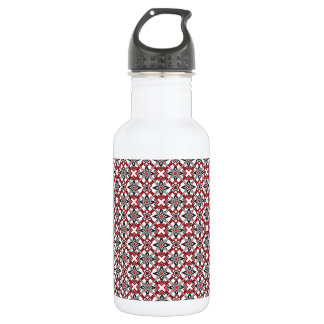 Black and Red Festival Water Bottle