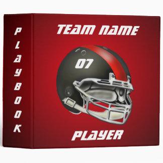 Black and Red Football Helmet Binder