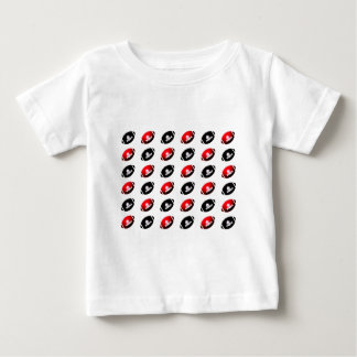 Black and Red Footballs Baby T-Shirt