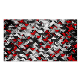 Black and Red Geometric Explosion Double-Sided Standard Business Cards (Pack Of 100)