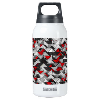 Black and Red Geometric Explosion Insulated Water Bottle