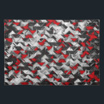 "Black and Red Geometric Explosion Placemat<br><div class=""desc"">image of black and red geometric pattern inspired by aztec and chevron designs</div>"