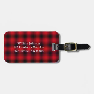 Black and Red Gingham Bag Tag
