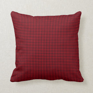 Black and Red Gingham Throw Pillow