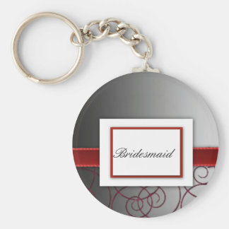 Black  and red graduated wedding set keychain