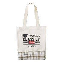 Black and Red Graduation Gear Zazzle HEART Tote Bag