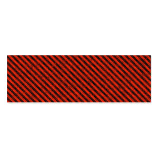 Black and Red Hazard Striped Business Cards
