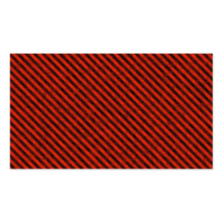 Black and Red Hazard Striped Business Card Templates