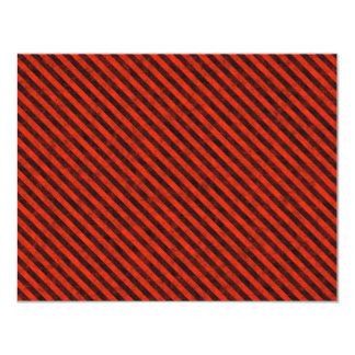 Black and Red Hazard Striped Card