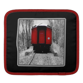 Black and Red Heritage Railroad Train Sleeve For iPads