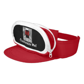 Black and Red Heritage Railroad Train Visor