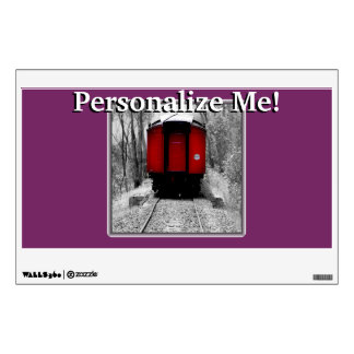 Black and Red Heritage Railroad Train Wall Sticker
