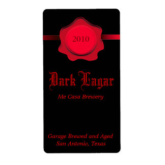 Black and Red Home Made Beer Labels