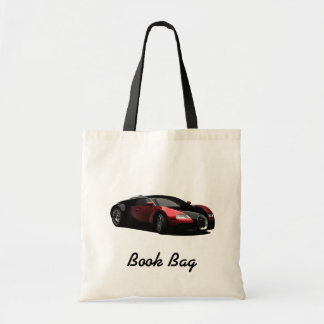 Black and red hot rod book bag